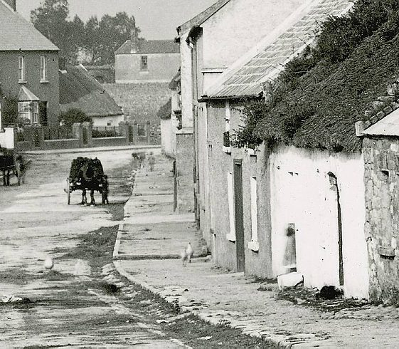 Detail of Main Street, Clarecastle from the west, c.1900 | Image Courtesy of the National Library of Ireland