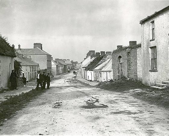 Main Street, Clarecastle from the west, c.1900 | Image Courtesy of the National Library of Ireland