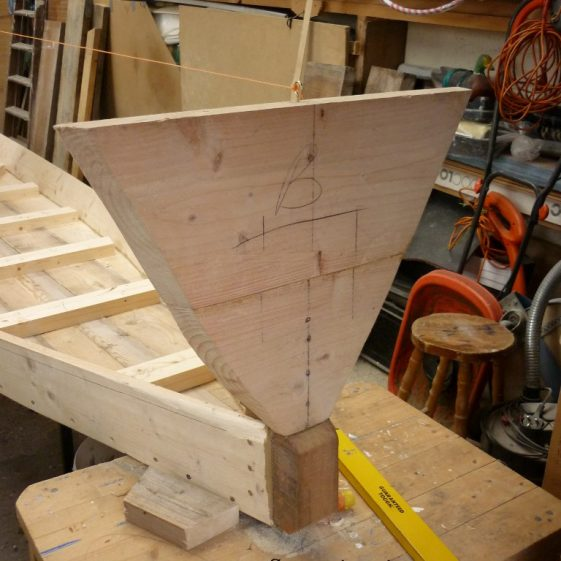 10. Stern piece in place.