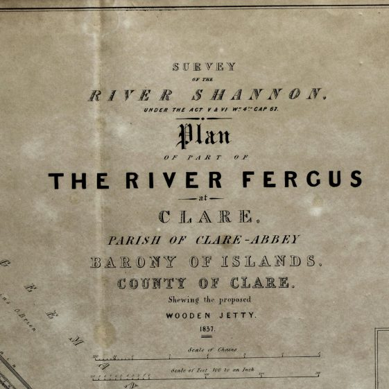 Map of proposed wooden jetty 1837   Clare Library