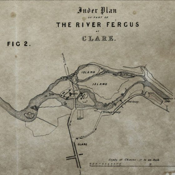 Map of proposed jetty 1837   Clare County Library