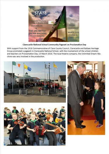 The 1916 Pageant in Clarecastle School