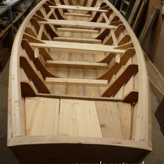 23. gunwale, seats and locker fitted