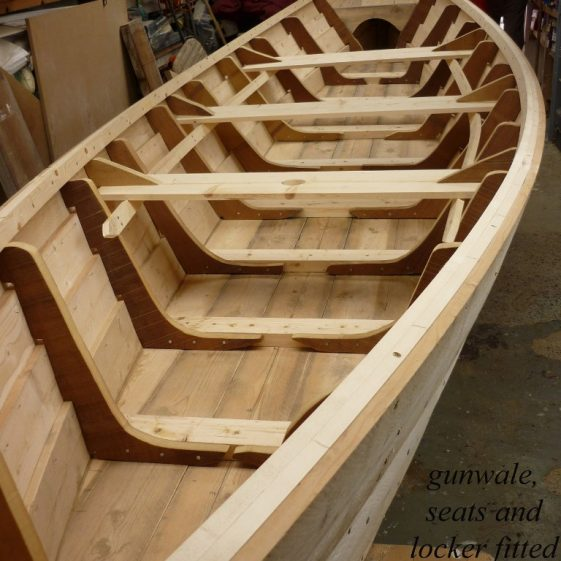 25. gunwale, seats and locket from bow