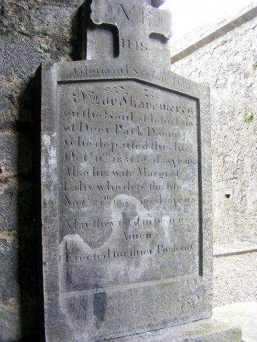 Gravestone Inscriptions for Clare Abbey