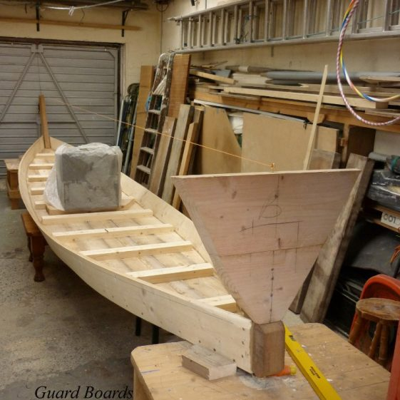 8. Guard Boards fitted, with stern and bow in place