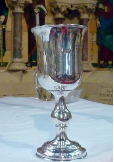 St. Mary's Church Communion Cup from the Parish of Clare Abbey- courtesy of Canon Bob Hanna.   St. Columba's Church, Ennis