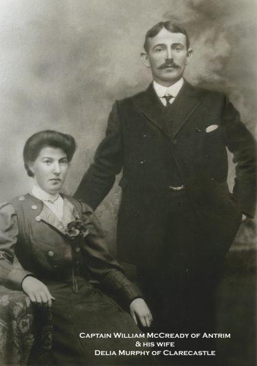 Captain William McCready and his wife Delia McCready nee Murphy. Photo courtesy of his Granddaugher, Kathleen O'Mahony