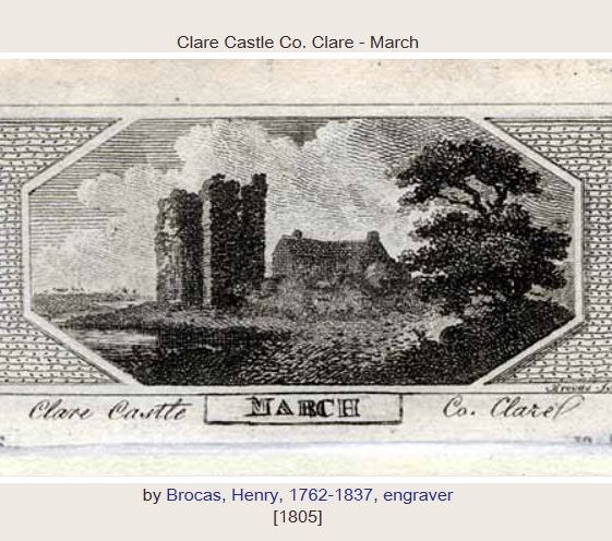 Clare Castle by Henry Brocas 1805. Image courtesy of NLI