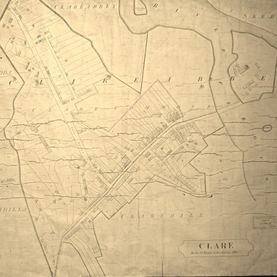 Griffith's Land Valuation May of Clare Castle 1855. Courtesy of Clare Library