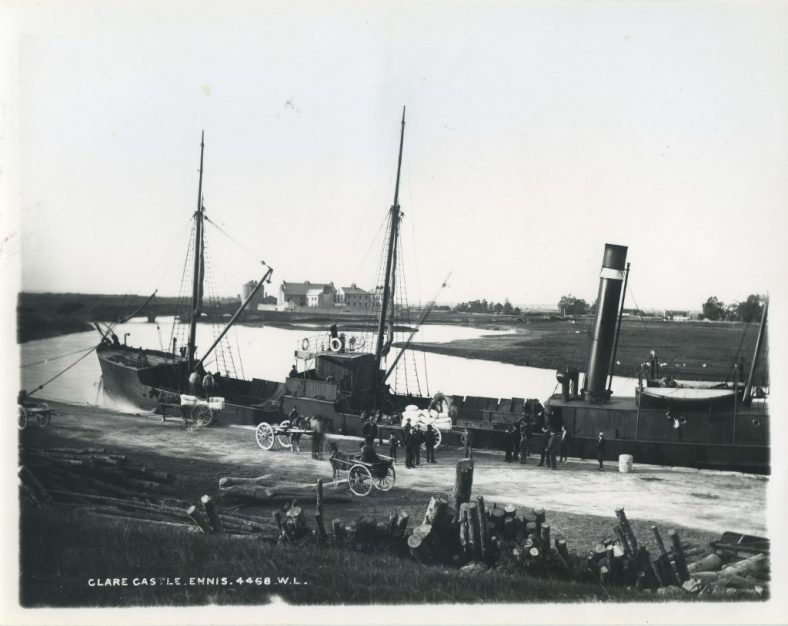 Port of Clare - Clarecastle Quay c. 1900 Lawrence Collection, NLI
