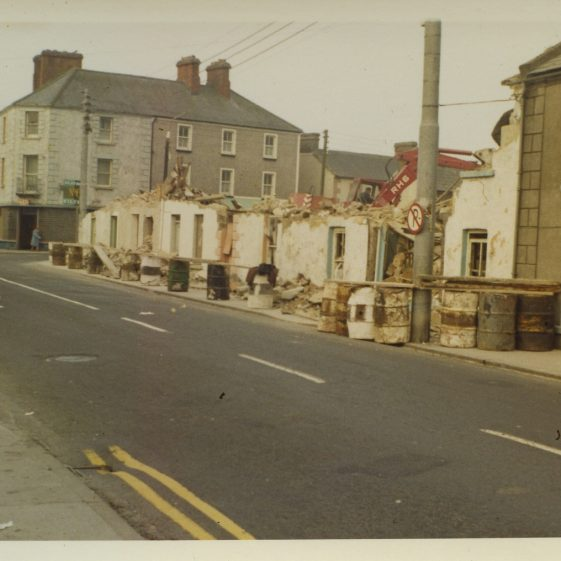 Demolition of part of Main St. Clarecastle to create visibility and a carpark