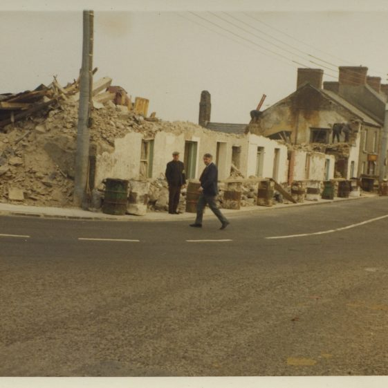 Demolition of houses in Main St. Clarecastle