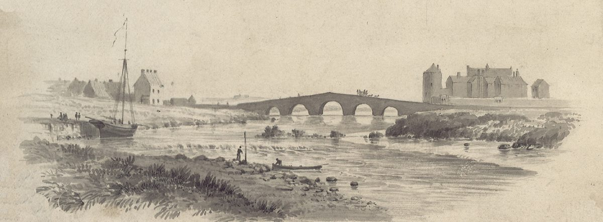 1840 detail from map of river Fergus