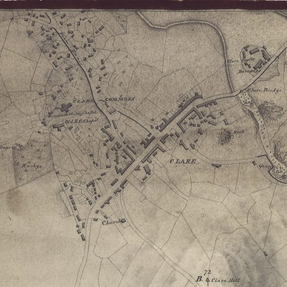 Detail from Map of River Fergus and Port of Clare 1840. Courtesy of London Hydrological Office