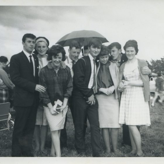 Gymkana 1964 in Roughan's Field. Eric Shaw, Eileen Slattery, Anne Madigan, Tony Madigan, Jimmy Malone, Seamus Considine, Josie Russell