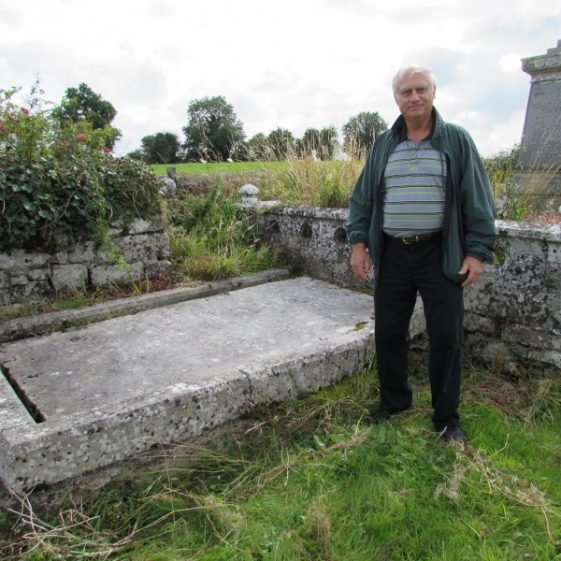 Bill Arnold at the grave of his great-grandmother in Killoo. - photo by Eric Shaw