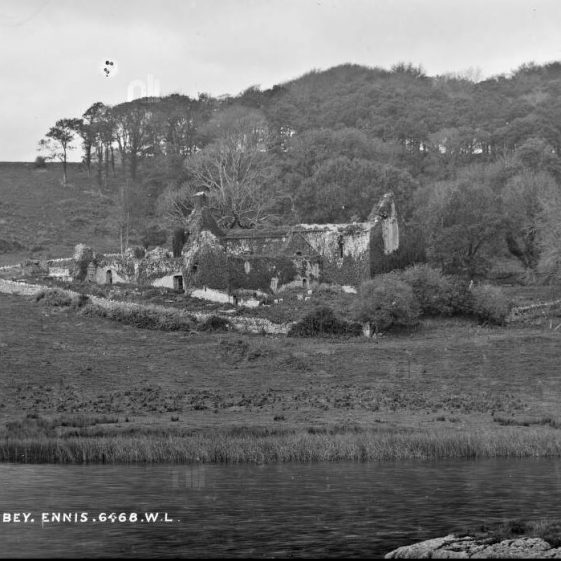 Killone Abbey from Point | Lawrence Collection - NLI