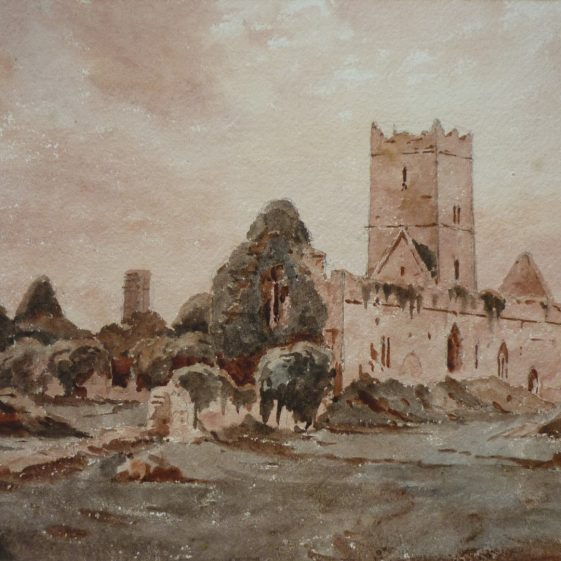 Clare Abbey 1862 by Rev. John Louis Petit. Courtesy of Pat & Kitty Quinn