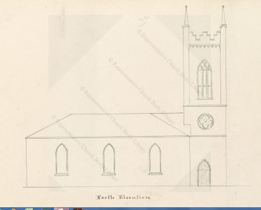 St. Mary's Church -north elevation - courtesy of Representative Church Body Library   RCB Library