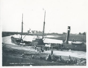 s.s. Queen's Channel at Clarecastle Quay. Lawrence Collection, NLI