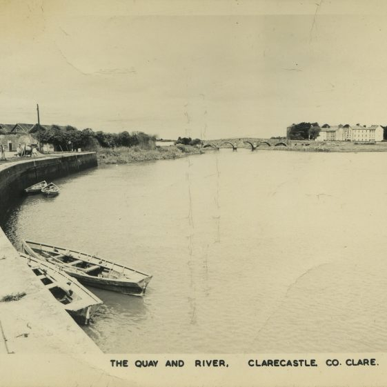 A postcard of Clarecastle Quay.