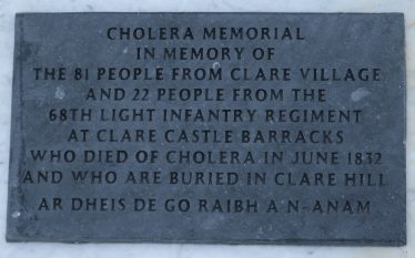 Cholera Memorial, Old Clare Hill Cemetery Photo by Eric Shaw