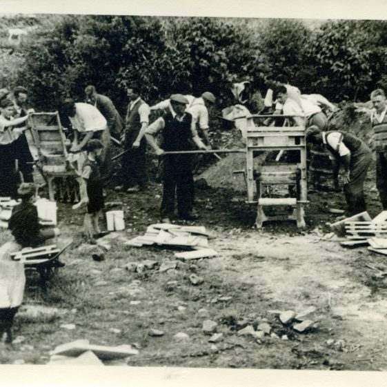 The voluntary work on the building of the Abbey Hall in the 1950s | Sergeant Long
