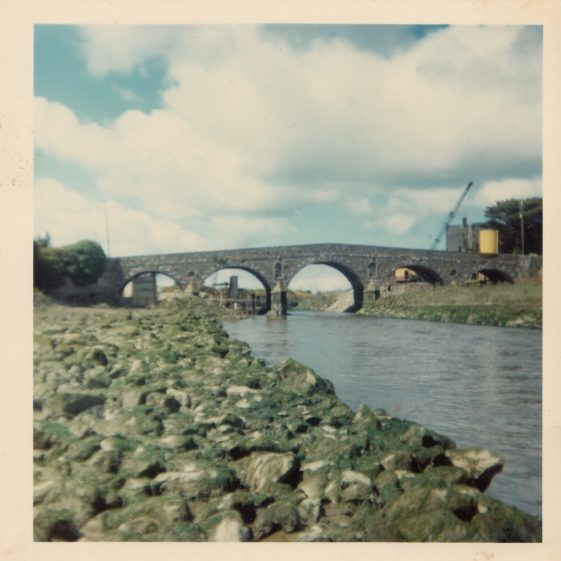 Building the Dam 1953 and showing the fine five-arched Clare Bridge | Pat Navin