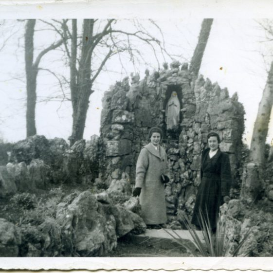 Clarecastle Grotto with Anne Long and Annette Madigan- 1955 | Sergeant Long