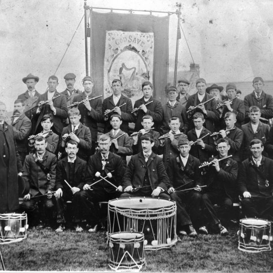 Clarecastle Fife and Drum Band - a photo that hung in Navin's Pub for many years  | Pat Navin