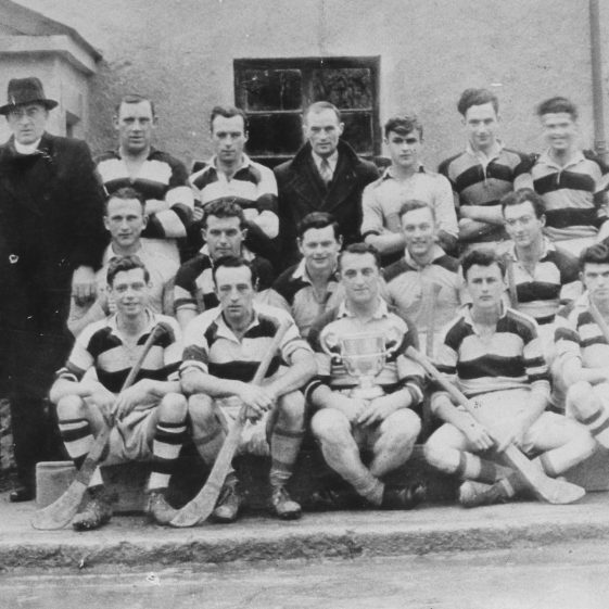 Canon Madden with Clare Castle Senior Hurling team, County Champions in 1945 | Sergeant Long