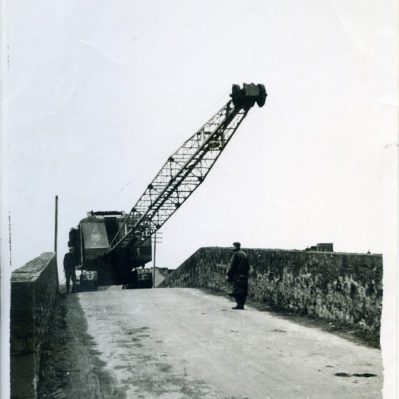 The Big Bridge Clarecastle being demolished 1971 | Sergeant Long
