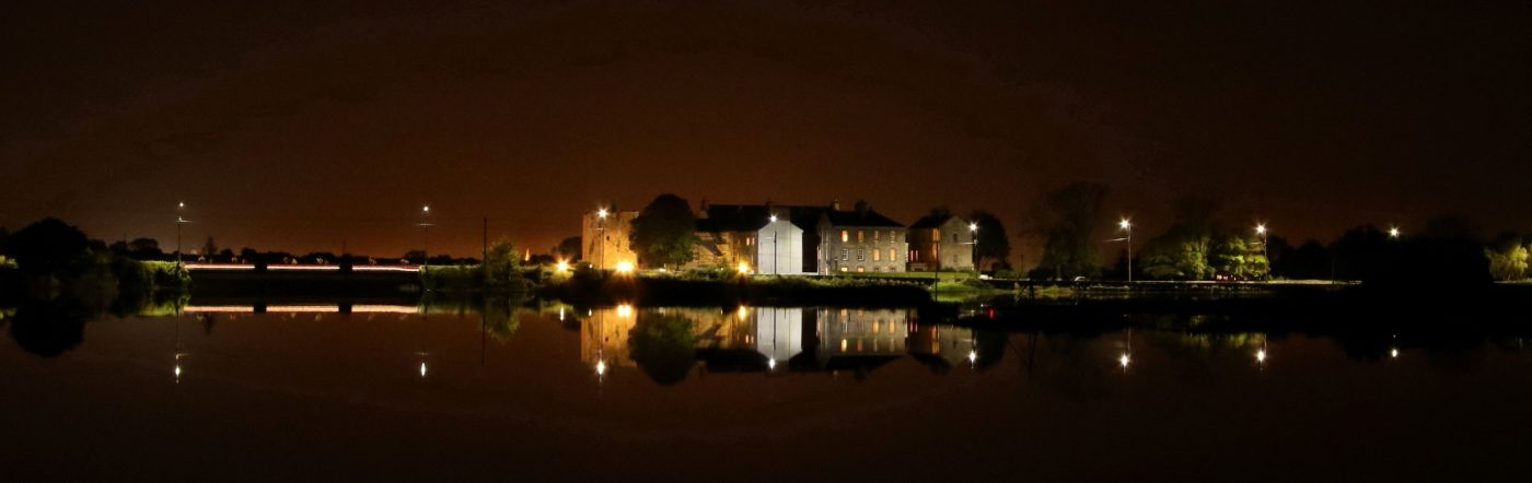 Clare Castle at night