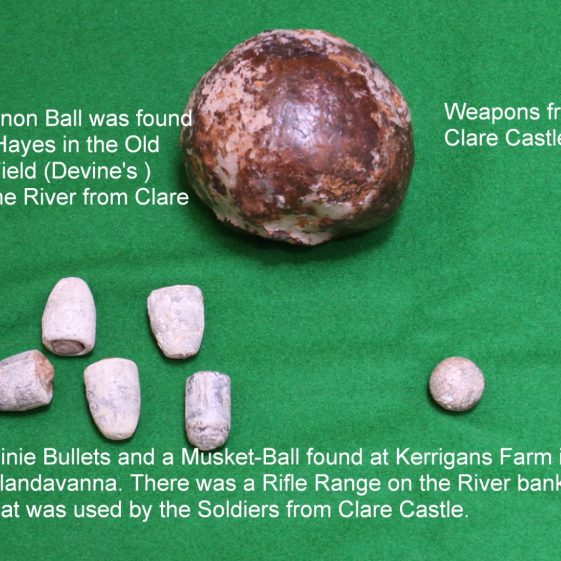 Cannon ball, minie-bullets, musket ball. Photo by John Power