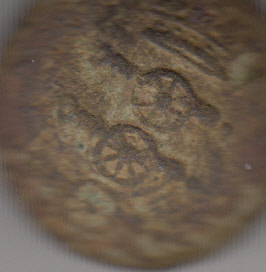 Royal Artillery button Killoo found by HMcM Photo by Eric Shaw
