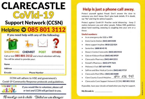 Clarecastle Covid-19 Support Network (CCSN)