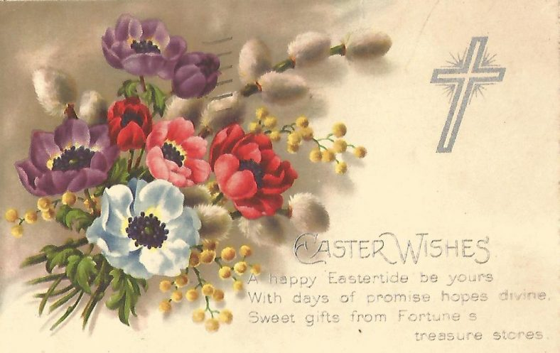Easter card 1937 to Abbeyview, Ballybeg | Eric Shaw