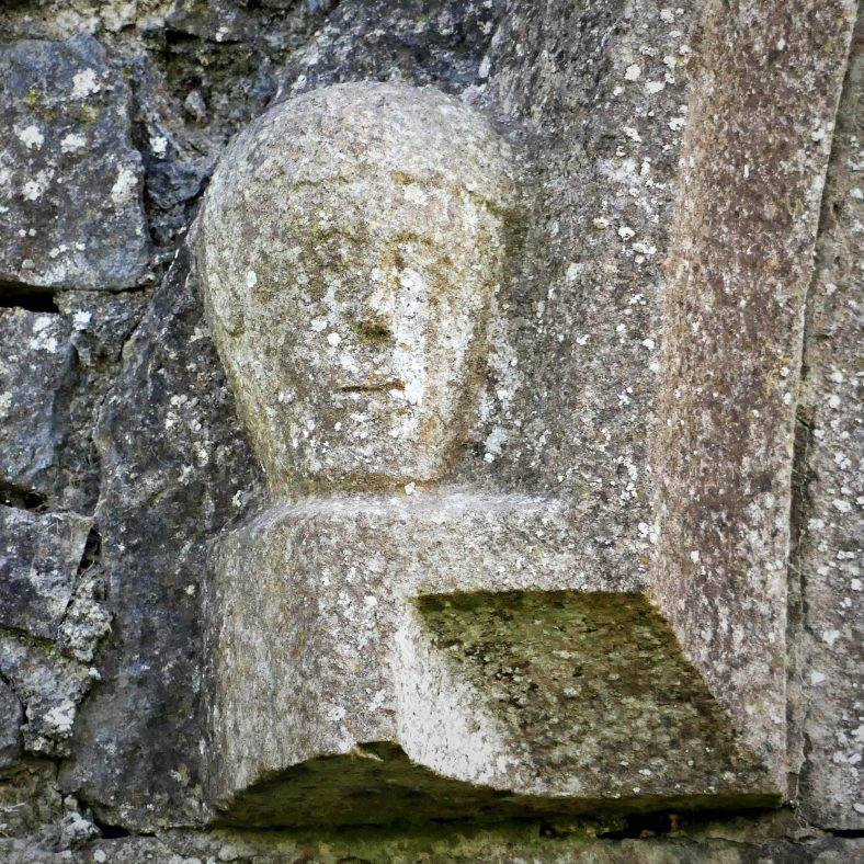 head carving on window in Clare Abbey | Christy Leyden