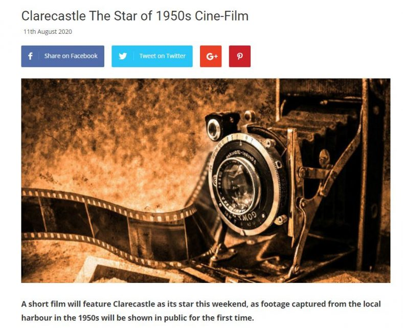 Clare FM Interview  Tues. 12 August 2020 on the 1950s Film | Clare FM