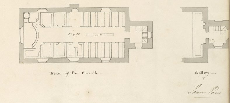 St. Mary's Church  Plan | RCB Library Ms138_04_044