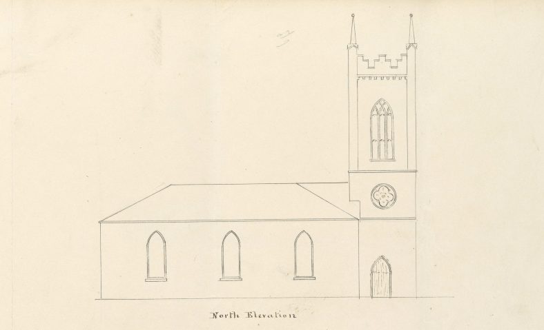 St. Mary's Church, north elevation | RCB Library Ms138_04_044