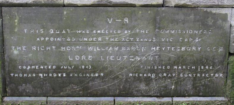 1843 Quay Foundation plaque | John Power