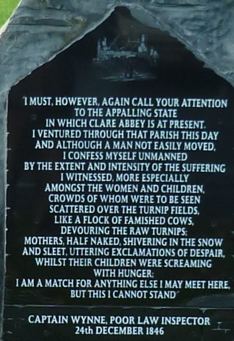 Famine Memorial Stone Inscription | Eric Shaw