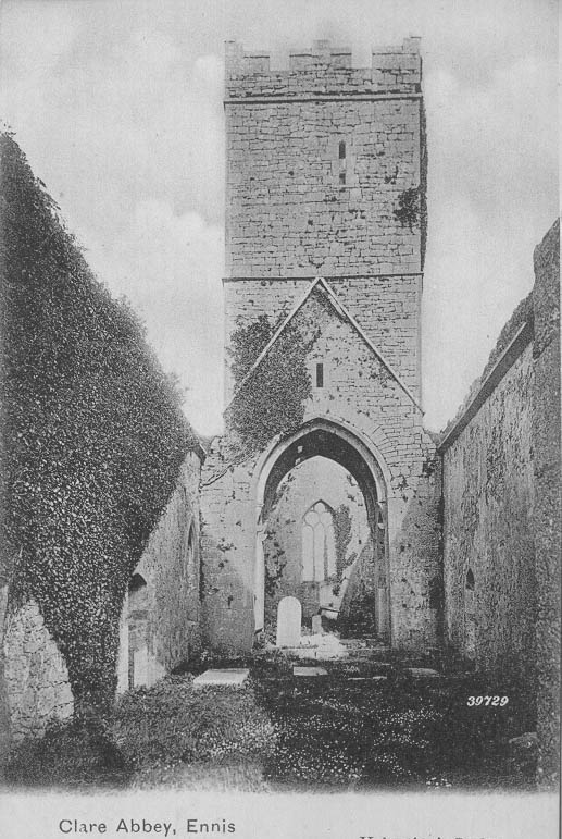 Clare Abbey interior 1902 | CBHWG Archives