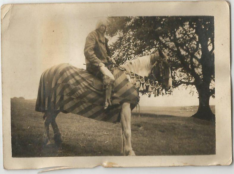 Denis Hayes on horse | Seamus Hayes