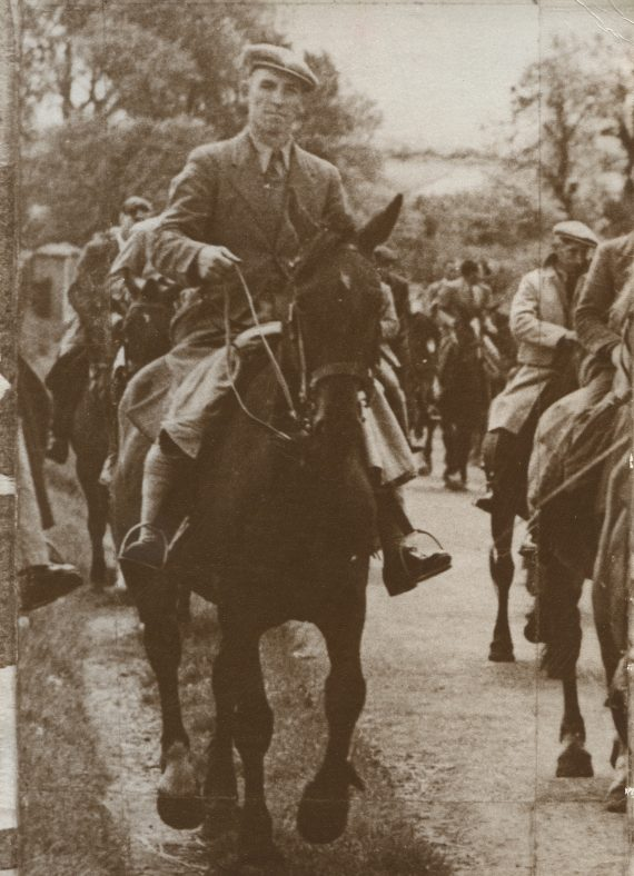 Jack McNamara riding to Avoca to make film King Henry  | Nora McNamara
