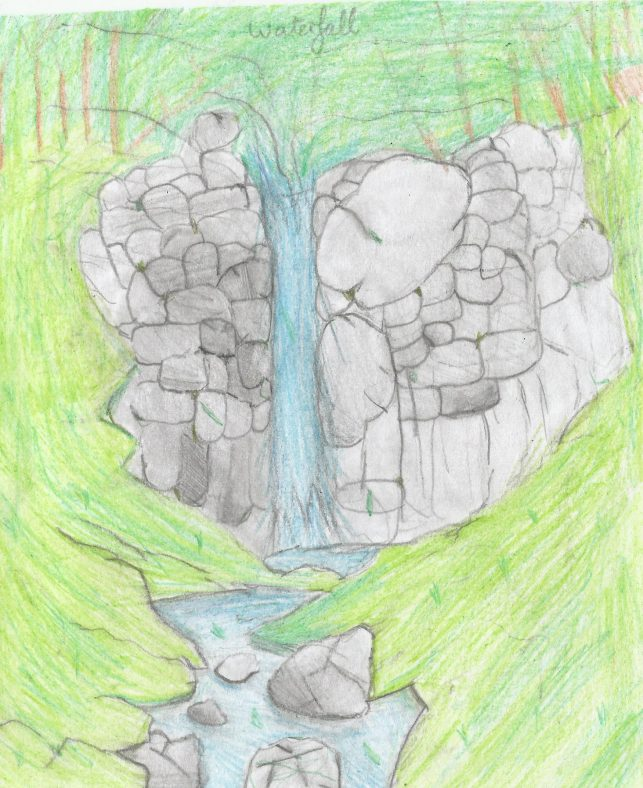 The Mermaid's Waterfall, Killone. Ballyea 5th Class - Joint First - Aisling Clohessy | CBHWG Archives