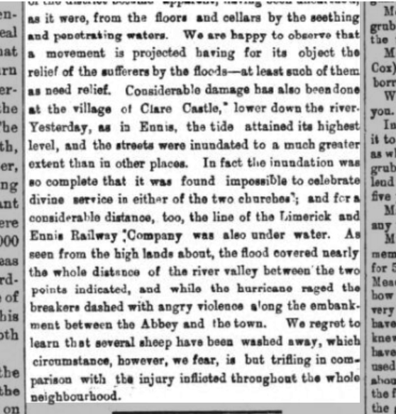 Clare Journal 1 Feb 1869   Clare Journal 1 Feb. 1869