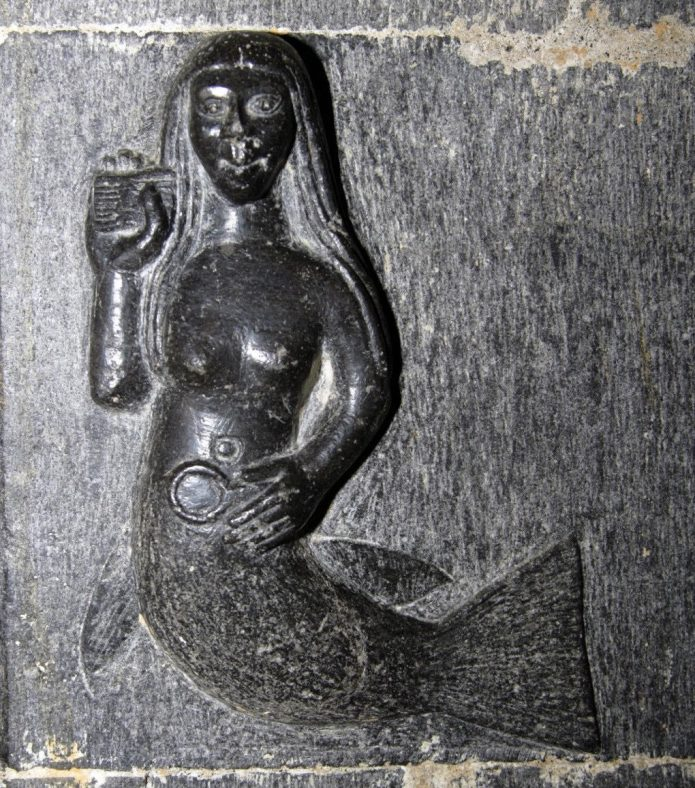 Mermaid carving, Clonfert Cathedral, Co. Galway | Antaine Ó Deargáin